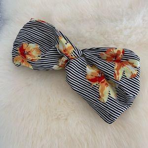 Zara Floral Stripe Headband